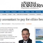 Guilty accountant to pay for ethics breach