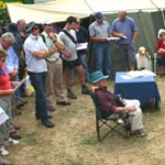 Farmers listen to speakers on the MIAG/Natural Producers Company at the 2008 Waimumu Field Days