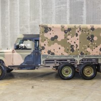 1989 Land Rover Defender 6x6 Perentie Single Cab Truck powered by 3.9 4 cyl Isuzu Turbo Diesel